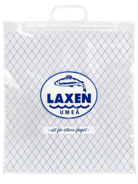 Handi-Bag® bærepose i transparent Polyehtylen (PE) med formstøbt naturel bærehank