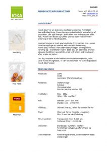 thumbnail of Handi-bag produktinformation – DK