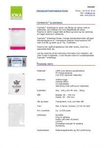thumbnail of Sliderbag produktinformation – DK